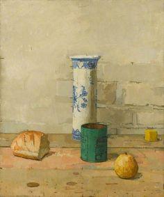 Euan Uglow, Still Life with Delft Jar, 1958