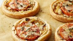 Get this all-star, easy-to-follow Tomato and Goat Cheese Tarts recipe from Ina Garten