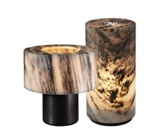 Lamps in marble by Gilles Caffier...consider ceramic