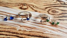 Blue or green? 💙💚 Find us her Uk Shop, Royal Blue, Sapphire, Jewelry Making, Rings, Green, Handmade, Shopping, Instagram