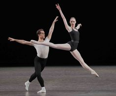 NYCB's Teresa Reichlen and Jared Angle in Balanchine's 'The Four Temperaments'. Photo: Paul Kolnik.