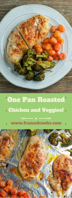 Have this one pan roasted chicken and vegetables for dinner and easy kitchen clean-up for dessert!