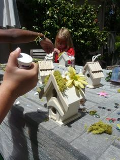 have the kids make their own fairy houses for the garden. what a great idea!