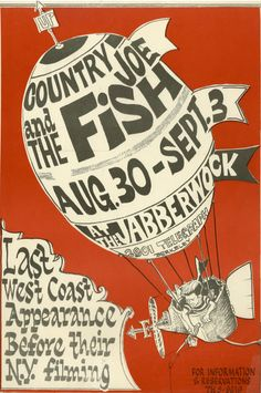 8/30 - 9/3 1966 .... The Jabberwock ...... Berkley ... California  ....   Country Joe and the Fish ....