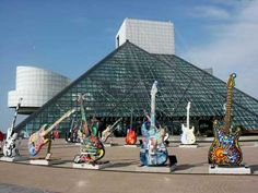 Ohio, Cleveland - Rock n Roll Hall of Fame--- Would love to go to some day! I've been there, it's pretty cool.