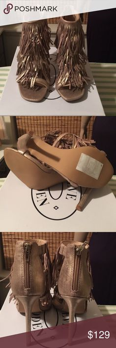 Selling this Steve Madden Fringly in Gold Leath in my Poshmark closet! My username is: deedee1967. #shopmycloset #poshmark #fashion #shopping #style #forsale #Steve Madden #Shoes