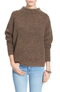 Free+People+'Bubble'+Mock+Neck+Sweater+available+at+#Nordstrom