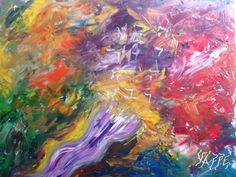 """Giclee on canvas reproduction. Painted after Rosh Hashana Inspired by the sound of the shofar. Size: 47"""" x 39"""""""
