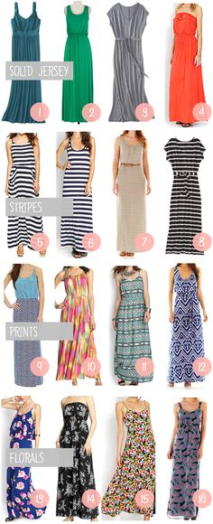 Shopping Help: Maxi Dresses - - LOVEing some of these!  So many options!