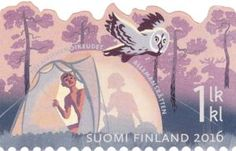 Stamp: Camping (Finland) (Everyman's right) Mi:FI Colnect, connecting collectors. Only Colnect automatically matches collectibles you want with collectables other collectors swap. Colnect collectors club revolutionizes your collecting experience!