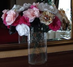 Items similar to Huge Bouquet of Handmade Paper Flowers on Etsy Paper Flowers Wedding, Giant Paper Flowers, Wedding Bouquets, Glass Vase, Bride, Handmade Gifts, Artist, Etsy, Wedding Bride