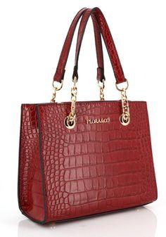 Crocodile, Shoulder Bag, Bags, Fashion, Pouch, Cheap Designer Purses, Large Handbags, Pouch Bag, Leather
