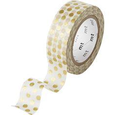 washi gold dots tape