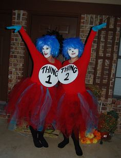 Halloween costume ....Thing one Thing Two