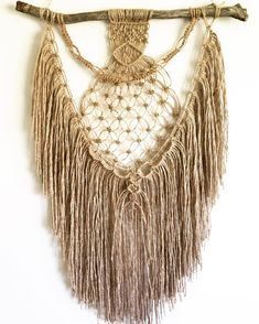 SOLD - This girl is also up for grabs today if you're looking for a small tribal piece to fill a space. She's wide on the branch, long from the branch to the bottom of fringe long from hanging string to bottom of fringe). DM for details. Tribal Fashion, Boho Fashion, Bohemian Decor, Boho Chic, Wall Hanging Crafts, E 9, Arts And Crafts, Diy Crafts, Textiles