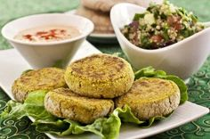 Pan-Fried Falafel Patties by Plant-Powered Kitchen Its all at http://chickencasserole.org/posts/Pan-Fried-Falafel-Patties-by-Plant-Powered-Kitchen-36766