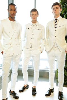 10 Notable Looks From Men's Fashion Week | Tommy Hilfiger: an original classic. Groundbreaking? Not anymore. But I wouldn't mind a jean jacket in white leather, now that you mention it. (Photo: NowFashion)