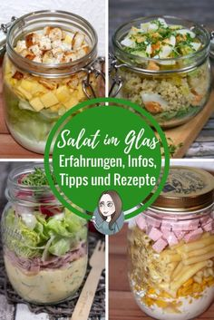 Salat im Glas fuer eine Woche Erfahrungsbericht Vorbereitungen Information Rezept Zubereitung richtig Schichten