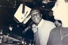 Larry Levan with David Morales and jellybean Benitez @ the paradise garage