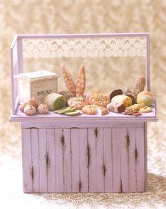 Miniature scale 1/12 bakery shelf $186.00