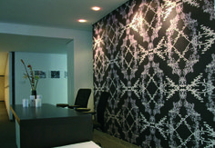 """Wag ń Bietjie's """"Black"""" creates a sleek finish to this office space."""