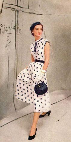 Mollie Parnis dress, photo Horst P. Horst, Vogue 1953