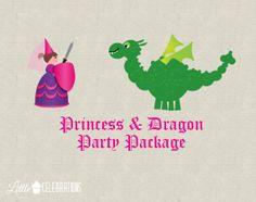 PrintYourOwn Princess & Dragon Birthday by littlecelebrations, $19.95