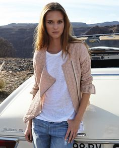 Francine jacket - Wrap - A simple way to wear this seasons lace trend, this broderie anglaise jacket has pared down biker styling. Neat fitting with an asymmetric zip, full-length sleeves and zipped cuffs. 100% Cotton.