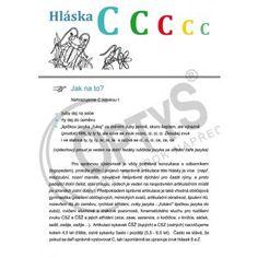 cvičebnice hláska c, dvojlist Preschool, Teacher, Logos, Africa, Professor, Kid Garden, A Logo, Kindergarten, Logo