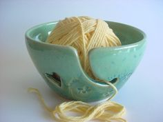 Four Leaf clover Yarn Bowl Handmade pottery Made To by alispots. $34.00, via Etsy.