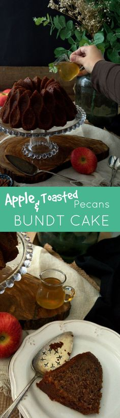Apple & Toasted Pecans Bundt Cake with rum syrup - so moisty... You'll love…