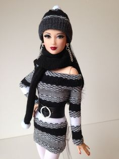 Handmade OOAK ensamble for Barbie Basics,Silkstone,Fashion Royalty, Model Muse  New in Dolls & Bears, Dolls, Barbie Contemporary (1973-Now)