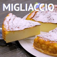 Migliaccio - a traditional semolina and ricotta cake made in Naples # Semolina # Ricotta# cheesecake # Rawa # Cake # No flour easycakerecipes Italian Desserts, Italian Recipes, Romanian Desserts, Italian Cake, Easy Cake Recipes, Sweet Recipes, Semolina Cake, Semolina Recipe, Food Tags