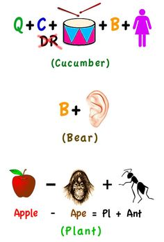 Rebus Riddles to make my day. Good brain quizzes for elementary kids in the morning