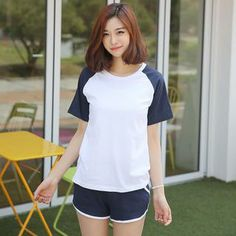 Buy 'Envy Look – Raglan-Sleeve Color-Block T-Shirt' with Free International Shipping at YesStyle.com. Browse and shop for thousands of Asian fashion items from South Korea and more!