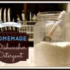 Homemade Dishwasher Detergent and Rinse Agent - $ave Naturally
