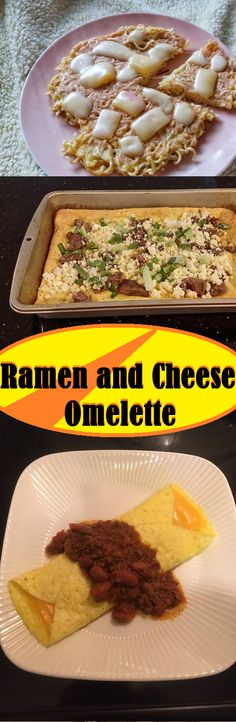 Ramen-Käse-Omelett - MY Delish Food . Healthy Family Meals, Healthy Eating Recipes, Healthy Meal Prep, Cooking Recipes, Chicken Appetizers, Appetizer Recipes, Chicken Recipes, Bratwurst, Ramen