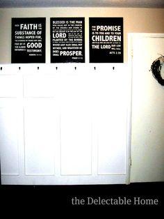 DIY scripture verse subway art with free printable