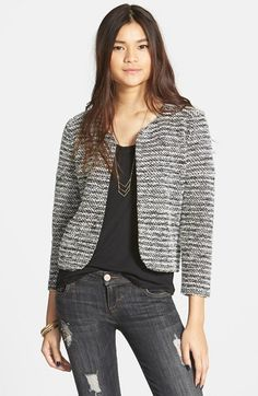 Elodie Stripe Tweed Jacket (Juniors) available at #Nordstrom