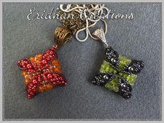 Pillow  beaded pendant  tutorial by EridhanCreations on Etsy