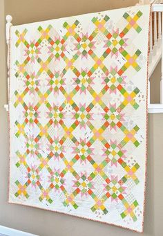 The Carol Quilt (Kitchen Table Quilting)  Ha! I think I need to make this.