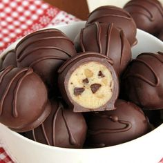 These chocolate chip cookie dough truffles are so easy you're going to feel like you're cheating.