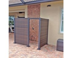 DIY Backyard Wicker Partition System For Outdoors