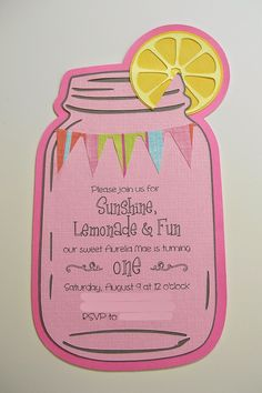 The Cutest Little House in Town: Pink Lemonade First Birthday Party
