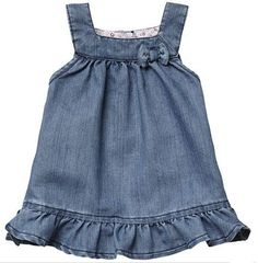 Come and read about the latest Tommy Hilfiger collections and choose your favorite line! Little Girl Dresses, Girls Dresses, Frock Patterns, Denim Ideas, Kids Fashion, Fashion Outfits, Applique Dress, Kind Mode, Baby Wearing