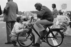 Steve McQueen on set at Le Mans 1970