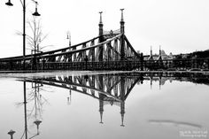 A collection of beautiful and inspiring black and white images of Budapest, brought to you by Márk Mervai Photography. Black N White Images, Black And White, Liberty Bridge, Hungary, Budapest, Photoshop, Marvel, Photography, Bridges