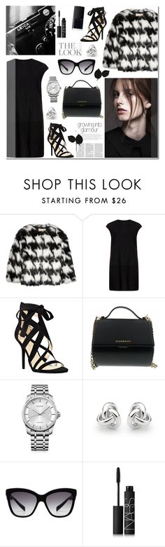 """""""Cropped Faux Fur Coat"""" by anyasdesigns ❤ liked on Polyvore featuring MICHAEL Michael Kors, MuuBaa, Nine West, Givenchy, Calvin Klein, Georgini, Dolce&Gabbana, NARS Cosmetics, women's clothing and women"""