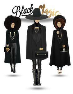 """Black Girl Magic"" by foreverfreshie on Polyvore featuring STELLA McCARTNEY, Balmain, Alice + Olivia and Philipp Plein"