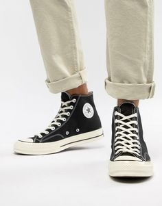 ea8d70360e79 Converse Chuck Taylor All Star  70 Hi Sneakers In Black 162050C